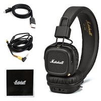 Wholesale MARSHALL MAJOR II wireless HEADPHONE Bluetooth headsets Music HIFI headset Black High quality Black Professional Headphones DHL free