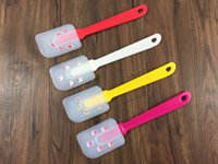 Wholesale Release knife Baking Tool Cake environmentally friendly silicone scraper Christmas series printed pattern