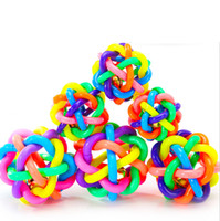 Wholesale 6cm colorful ball pet supplies Bell Weaving Ball Pet Toys Dogs Toy Toy Rainbow Pet Ball Resistance to bite Jiejiao toy ball