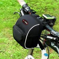 bicycle bags handlebar - Waterproof Cycling Bicycle Folding Bike Front Handlebar Bag Basket Kits Multifunctional Outdoor Sports Mountain