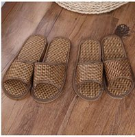 Wholesale boree Summer Men Women Casual Shoes Indoor Bathroom Slippers Bamboo Shoes Slipper New