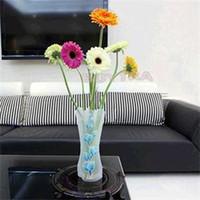 Wholesale 1Pcs Eco friendly Foldable Folding Flower PVC Durable Vase Home Wedding Party Easy to Store x cm