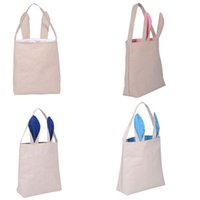 Wholesale New colors INS Easter Bunny ears handbag bags children INS rabbit ears holiday gift gift canvas bags DHL