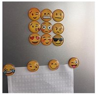 Wholesale Emoji Fridge Magnet Cartoon Christmas Poke Dome Glass Santa Claus Refrigerator Magnets Cartoon Expression Glass Cabochon Magnetic Stickers