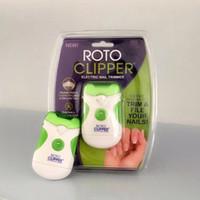automatic nail - New Roto Clipper Electric Nail Trimmer White Green automatic Nail clipper Pedicure Nail Tools With Retail box