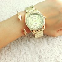 american fashion watches - European and American Fashion Classics Watch Strap Diamond Ladies Watch Trends Watch Classic Stainless Steel