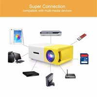 Home audio business card - Mini YG300 LCD Projector LED P Portable Projector LM mm Audio HDMI USB SD card Home Media Player Black Yellow