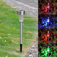 Cheap Wholesale-Colorful Solar LED Lawn Light Garden Lamp Outdoor Landscape  Path Patio Stake
