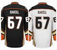 Wholesale Rickard Rakell Jersey Anaheim Ice Hockey Jerseys For Men Cheap Full Stitched Embroidery Logo Black White Size M XL