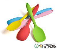Wholesale 21cm Silicone Mini Spatula Spoon Safe Silicone Large Spoon Scraper in Spoon Spatula Kitchen Craft Portable Kitchen Tools