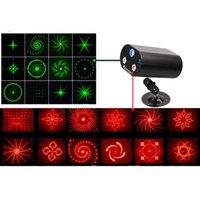 Wholesale 2016 New Lens Patterns RG BLUE LED Stage laser Lighting DJ Light Red Gree Blue disco laser light rgbw led Effect lamp Stage light