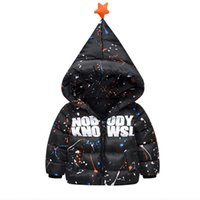 baby magic jackets - 2017 High Quality Hooded Jackets for Baby Boy Letter Printed Fashion Magic Cap Thick Warm Winter Down Coats Children Clothing