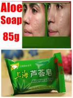 Wholesale Shanghai Aloe Acne Crystals Handmade Soap Face Skin Whitening Soap For Remove Blackhead Oil Control washing Facial Soap g pc