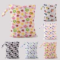 Vente en gros-Baby Diaper Sacs Impression Caractère Sacs Mouchants Changement Baby Sacs à couches Porcelaine Bébés Sacs Nappy Couche Nymphe DW3EW92