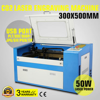 Wholesale 50W Co2 Laser Engraving Cutting Machine v Updated New W d crystal laser engraving machine with Auxiliary Rotary Device High
