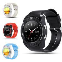 Wholesale Bluetooth V8 Smart Watch Health Clock Fitness Bracelet Pedometer SIM GSM Card Smart Watch for iOS Android PK Q18 GV18 U8