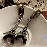 advertising car sale - 2016 Hot sale Fashion Paris Eiffel Tower alloy keychains lovers Novelty advertising gift retro Pendant Rings souvenir paris keyring Gifts