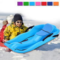 Wholesale Good Quality Adult Kids Sled Sand Grass Sliding Board Child Winter Sport Toboggan Thicken Plastic Ski Pad Colors MA0272