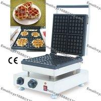 Wholesale Heavy Duty Nonstick v v Electric Square Belgian Belgium Lieges Waffle Iron Baker Machine Maker Mold