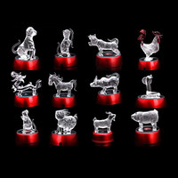 art glass figurines - Best Selling Rooster for Home Decoration High Quality Animal Crystal Glass Gift Design for Chinese Zodiac Craft Figurines Gift From Factory