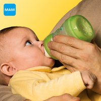 Wholesale MAM Anti Colic newborn Baby Milk Bottle child Feeding ml oz kids cup child nurse bottle PP Material