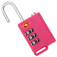 Wholesale New Arrival Luggages Bag Parts Accessories TSA Code Conbination Lock Custome Bag Travel Padlock TSA21037