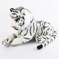 baby tiger stuffed animal - 1PCS Cute Plush White Snow Tiger Toys Stuffed Dolls Animals Pillows Cushion Childs Baby Children Kids Birthday Gifts cm