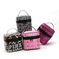 Wholesale New Fashion Victoria Classic Love Pink Secret Cosmetic Bag Double Zipper Handbag Portable Storage Bags Colors cm