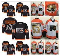 achat en gros de série de hockey-50th 2017 Stadium Series Premier Jersey Filadelfia Flyers # 11 Travis Konecny # 53 Shayne Gostisbehere # 9 Provorov # 28 Giroux Maillots de Hockey