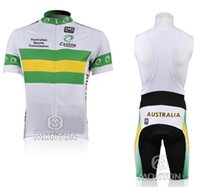 Breathable australian clothing - 2010 Australian Cycling Jersey Short Sleeve Shorts Kits Clothing Cycle Bicycle Team Ropa Ciclismo bicicletas maillot ciclismo Sportswear