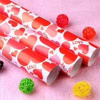 Wholesale cm Love Heart Design Wedding Gift paper Diy hand made Gift Packing Paper