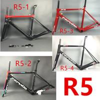 Wholesale 2017 R5 red black carbon frame bike bicycle carbon frameset UD weave frame carbon road bike frames