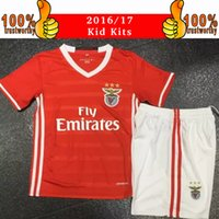 Wholesale 2017 Kids Kits Benfica Soccer Jerseys children Youth Sets Lisboa BenficaFootball Kits Home Red Soccer Uniforms Jersey