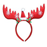 Wholesale Christmas children s cartoon headband performance headwear shiny card issuing performance dress props antler hairpin
