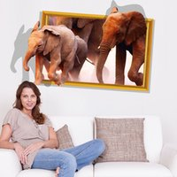 african home decor - QT DIY Home Decor Removable D The New African Elephant Wall Stickers Kids Room Waterproof Wallpapers Mural All match style
