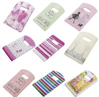 Wholesale 200pc Random Pattern Shopping Bags Mini Plastic Gift Bags For Birthday Gift Package x cm