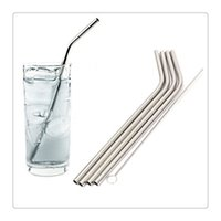 Wholesale 2017 New Stainless Steel Straws Long Bend Drinking Straws For oz Tumbler z Tumbler Fits RTIC Tumbler Fit all Yeti Tumblers Cups Clean