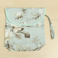 baby feeder bag - Infant Baby Nappy Diaper Storage Bag Cotton Hasp Design Flower Print Feeder Tissue Towel Store Tote Bags Mummy Favor Durable