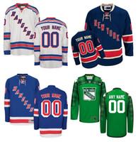 al por mayor jersey auténtico 56-Personalizado New York Rangers Jerseys Custom cosido cualquier nombre cualquier número Hockey sobre hielo Jersey, Auténtico Jersey Bordado Logos Tamaño 46-56