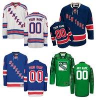 achat en gros de maillot authentique 56-Personnalisé hommes New York Rangers chandails couturés n'importe quel nom n'importe quel numéro Hockey sur glace Jersey, authentique Jersey broderie Logos Taille 46-56
