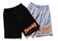 Wholesale Thrasher Shorts Men Summer Beach Shorts Pants Hip Hop Kanye High Street Trasher Shorts Fashion Men s Thrasher Men Short Pants