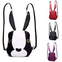 Backpack Style Girls Rabbit 2017 Fashion Designer Backpacks For Women Korean Rabbit Double Shoulder Bags Girls Casual Backpacks Woman Backpack Free Shipping