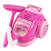 Wholesale Mini Simulation vacuum cleaner toy for kid lovely classic electric furniture toy the best gift for children Pink
