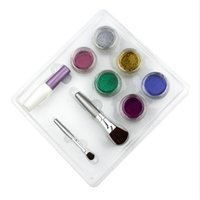 beginner tattoo designs - 6 Colors Powder Temporary Shimmer Glitter Tattoo Kit for Body Art Design Paint with Stencil Glue and Brushes
