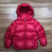 Wholesale French Brand Children s Mon Cler Outerwear Boy Girl Winter Warm Hooded Down Coat Children Thicken Down Jacket Kids Jackets Years