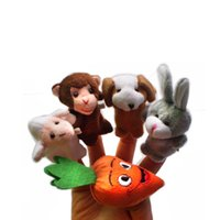 Wholesale Christmas Gift Finger Even Storytelling Good Toys Hand Puppet for Baby s Gift Developmental Dolls Stuffed Toys