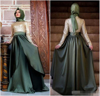 abayas for women - 2016 New Dubai Muslim Long Evening Dresses Kaftan Arabic Turkish Evening Robe Abayas for Woman Islamic Custom Made Prom Party Dresses