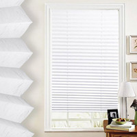 Wholesale Anti UV Window Blinds Pleated Original Pleated White Polyester Shade Curtains k