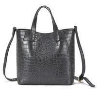 Wholesale Large Tote Patterns - New Simple commuter leisure large shoulder bag fashion designer crocodile pattern women bags handbags hot sale