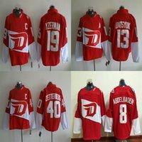 abdelkader shirt - Detroit Red Wings Jerseys Winter Classic Ice Hockey Mens Henrik Zetterberg Yzerman Pavel Datsyuk Justin Abdelkader embroidery